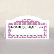 Royal Suite sweet sixteen place cards