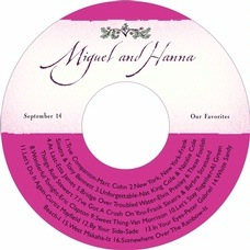 Rustic Floral cd labels