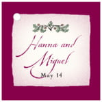 Rustic Floral square hang tags