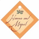 Rustic Floral small diamond hang tags
