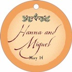 Rustic Floral circle hang tags