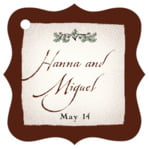 Rustic Floral fancy square tags