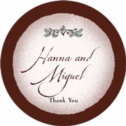 Rustic Floral large circle labels