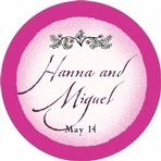 Rustic Floral circle labels