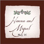 Rustic Floral square labels