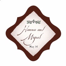 Rustic Floral fancy diamond labels