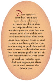 Rustic Home oval text labels