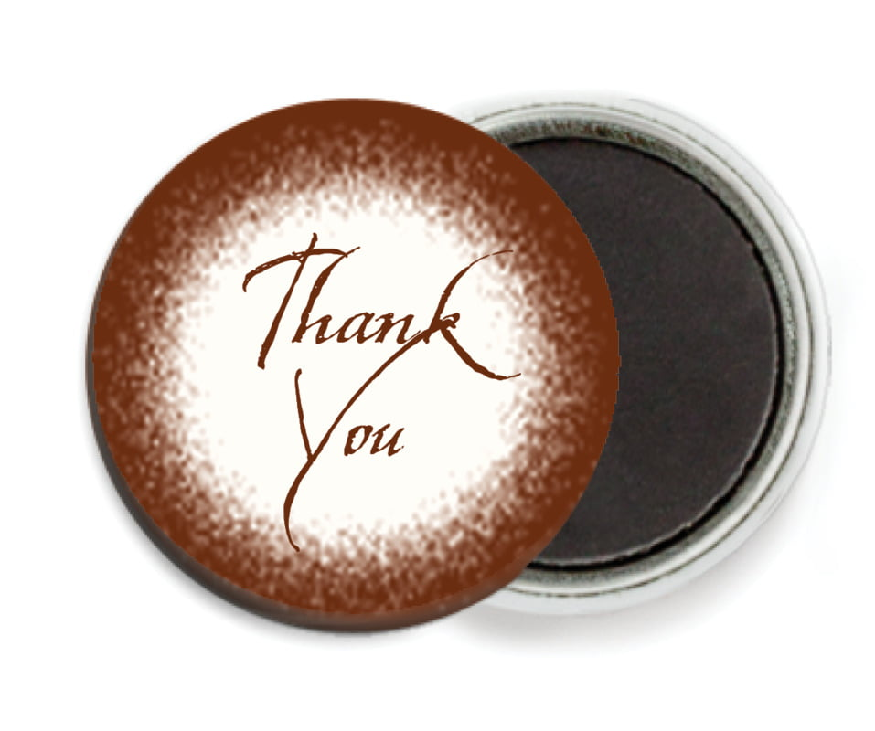 custom button magnets - chocolate - rustic home (set of 6)