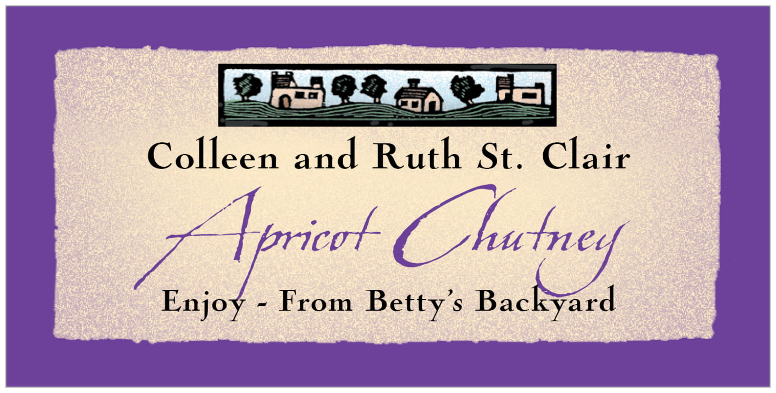 small rectangular food/craft labels - purple - rustic home (set of 24)