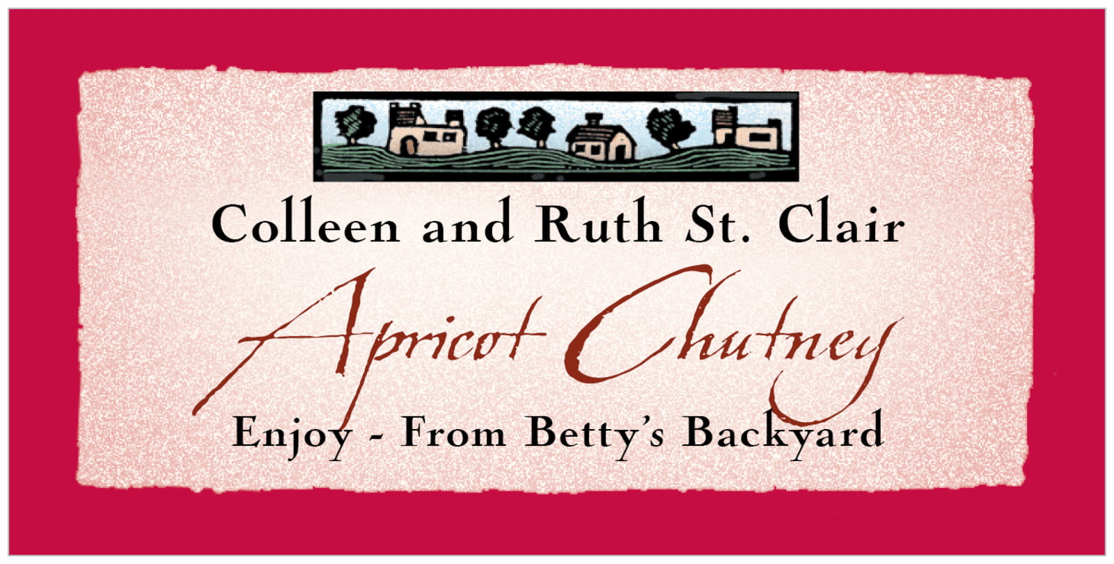 small rectangular food/craft labels - deep red - rustic home (set of 24)