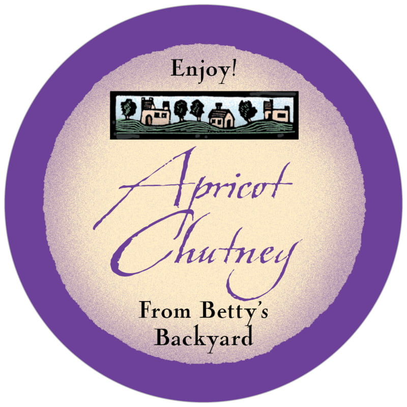 circle food/craft labels - purple - rustic home (set of 20)