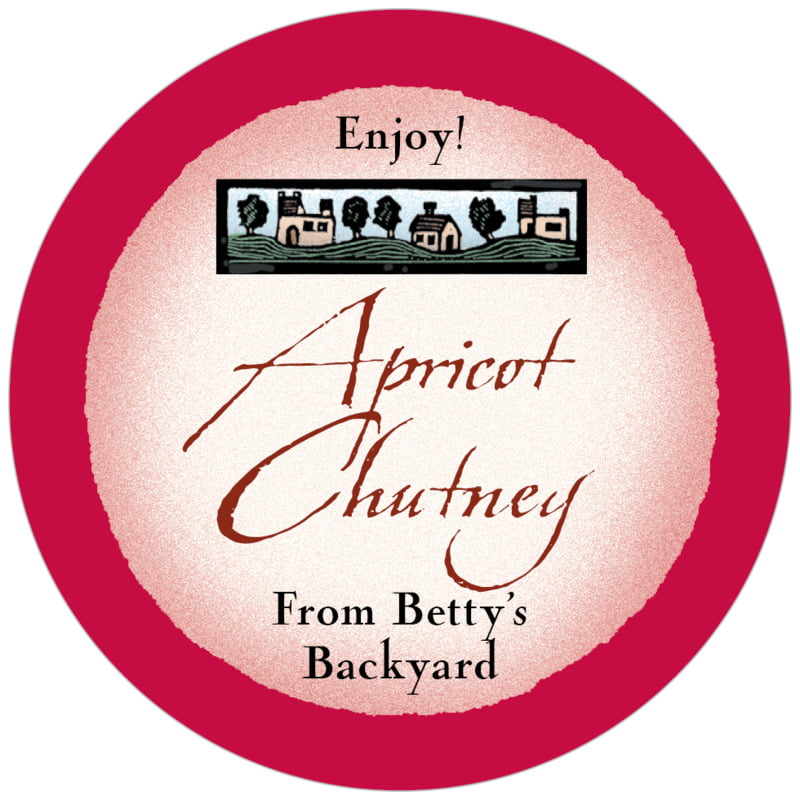 circle food/craft labels - deep red - rustic home (set of 20)