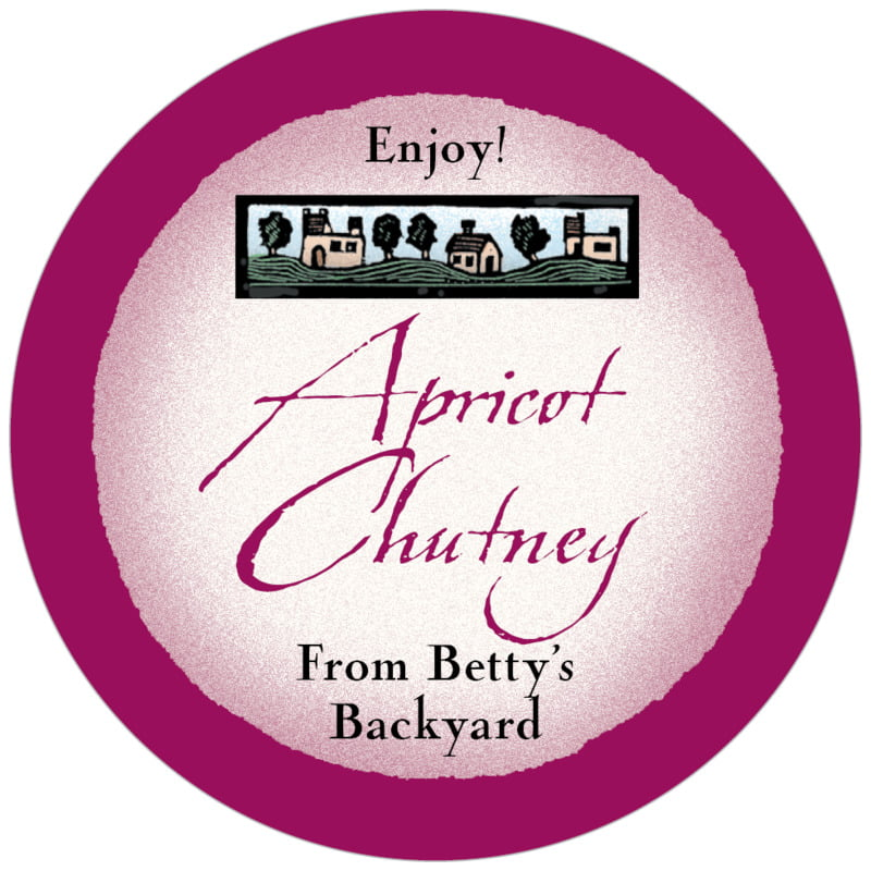 circle food/craft labels - burgundy - rustic home (set of 20)