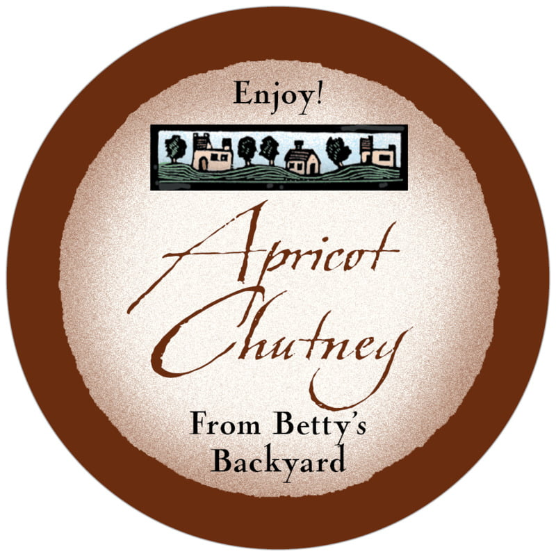 circle food/craft labels - chocolate - rustic home (set of 20)