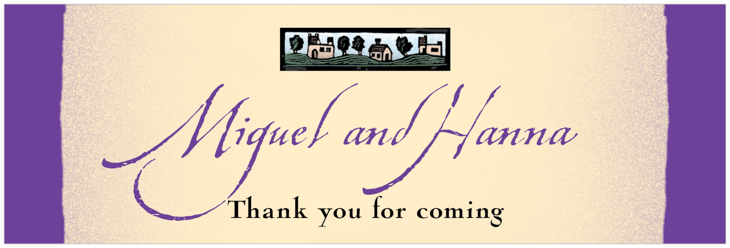 wide food/craft labels - purple - rustic home (set of 14)