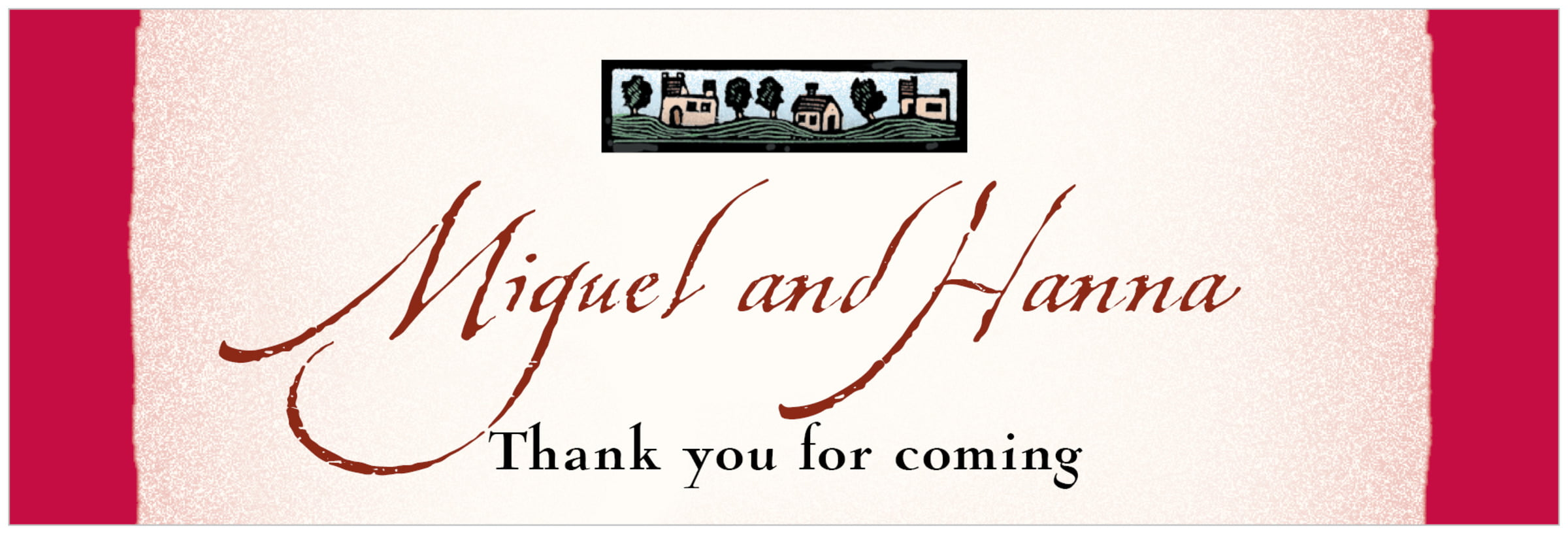 wide food/craft labels - deep red - rustic home (set of 14)