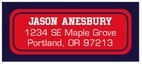 Baseball designer address labels