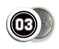 Baseball pin back buttons