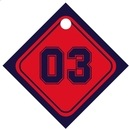 Baseball small diamond hang tags