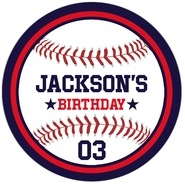 Baseball large circle labels