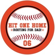 Baseball father's day coasters