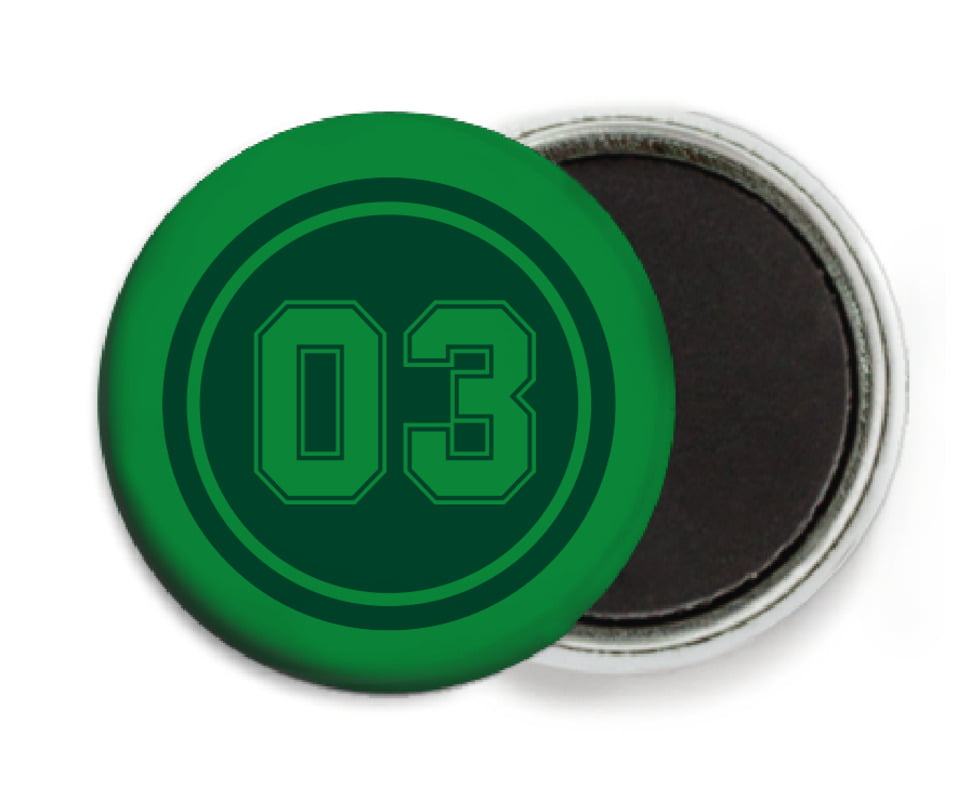 custom button magnets - forest & green - baseball (set of 6)