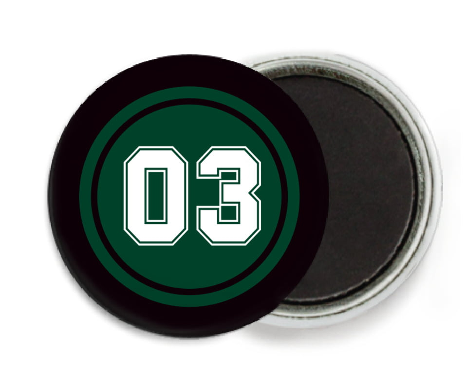 custom button magnets - forest & black - baseball (set of 6)