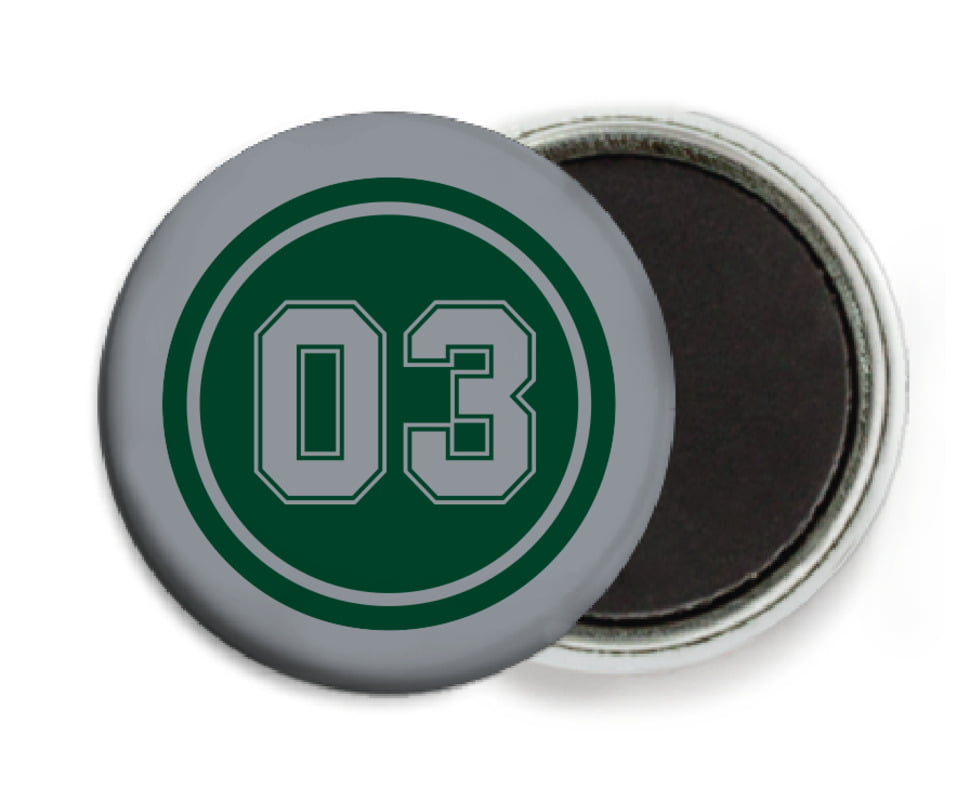 custom button magnets - forest & silver - baseball (set of 6)