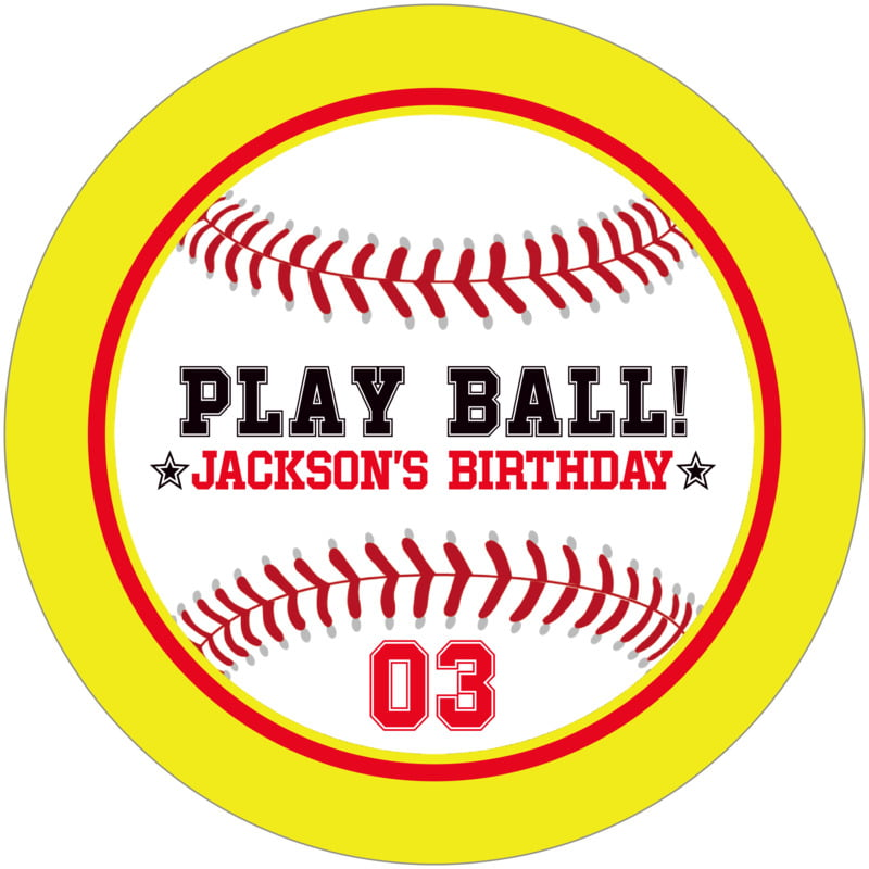 round beer coasters - red & yellow - baseball (set of 12)