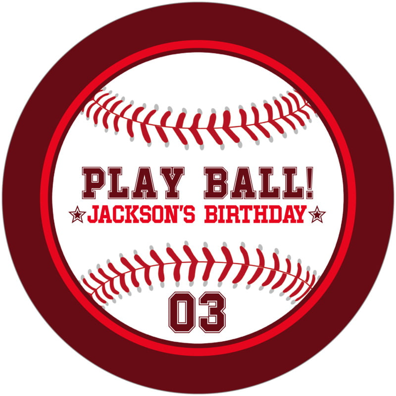 round beer coasters - red & maroon - baseball (set of 12)