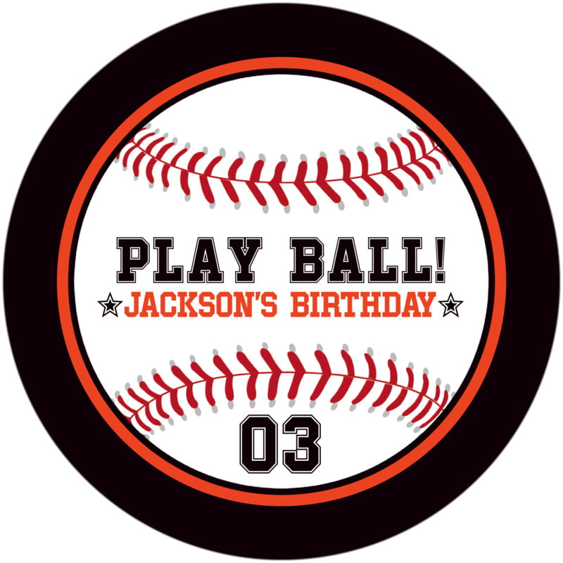 round beer coasters - orange & black - baseball (set of 12)