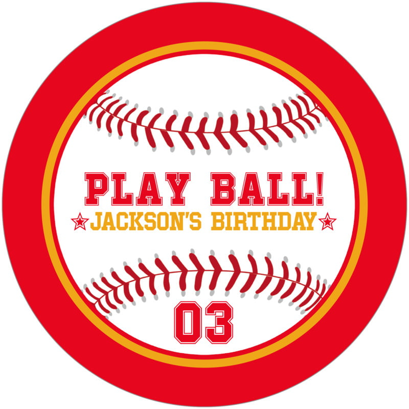 round beer coasters - gold & red - baseball (set of 12)