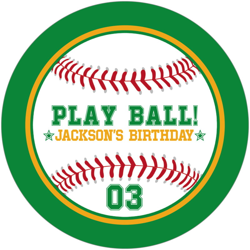 round beer coasters - gold & green - baseball (set of 12)