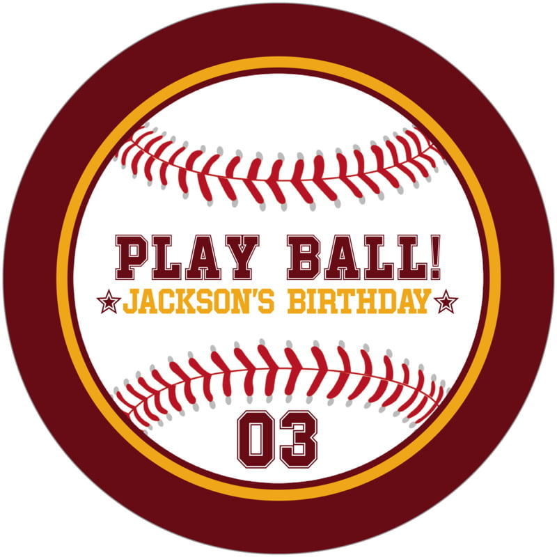 round beer coasters - gold & maroon - baseball (set of 12)