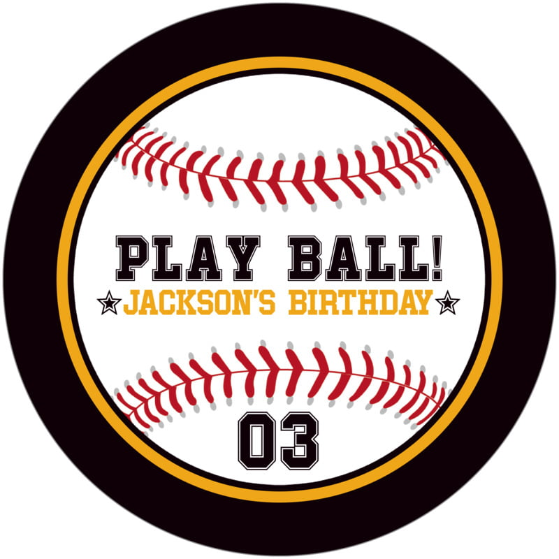 round beer coasters - gold & black - baseball (set of 12)