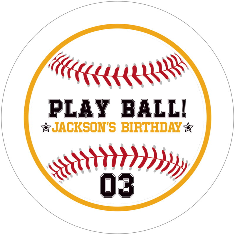 round beer coasters - gold & white - baseball (set of 12)