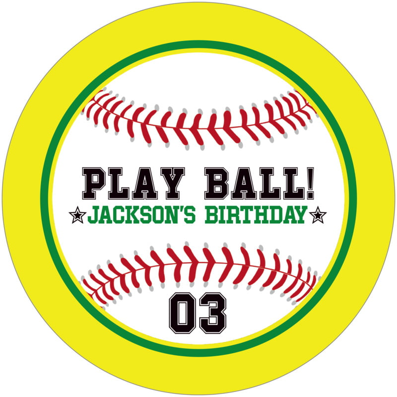 round beer coasters - green & yellow - baseball (set of 12)