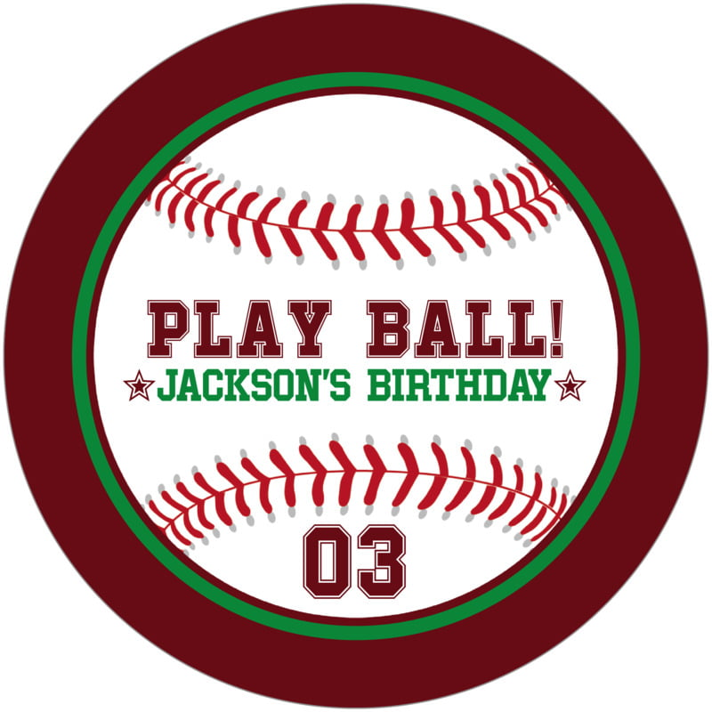 round beer coasters - green & maroon - baseball (set of 12)