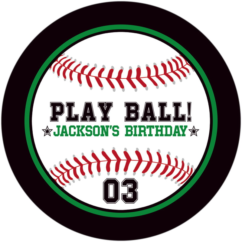 round beer coasters - green & black - baseball (set of 12)