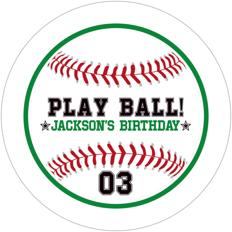 round beer coasters - green & white - baseball (set of 12)