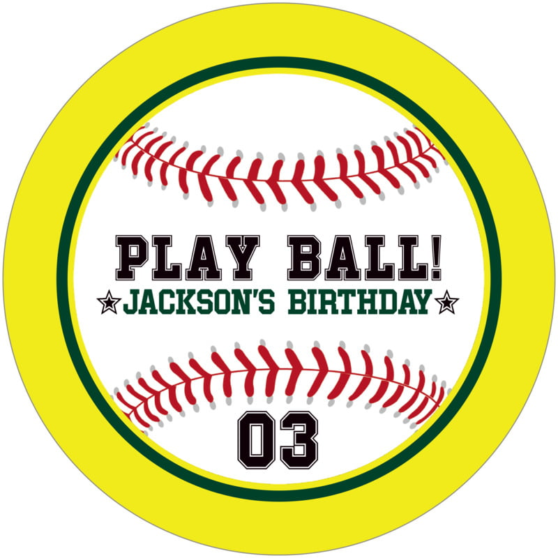 round beer coasters - forest & yellow - baseball (set of 12)