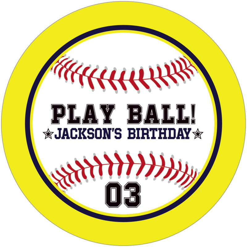 round beer coasters - navy & yellow - baseball (set of 12)