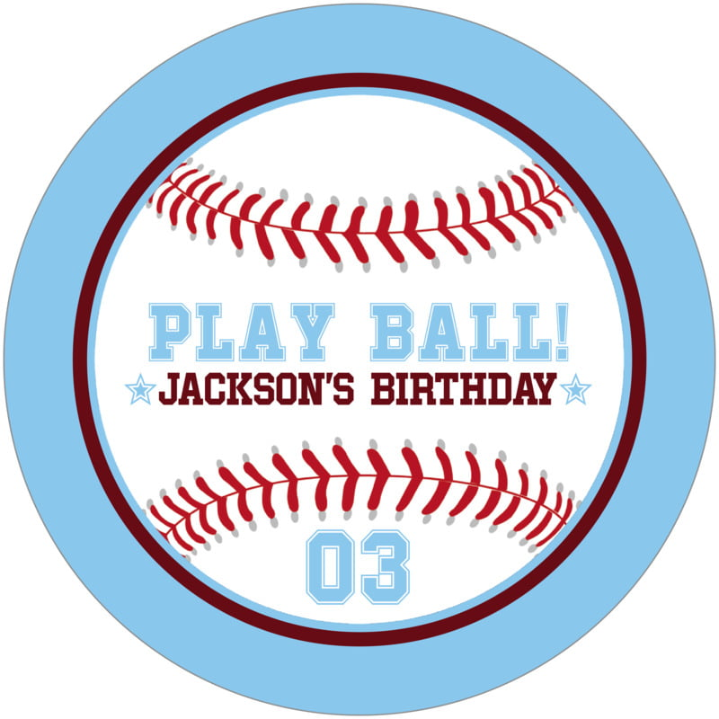 round beer coasters - maroon & light blue - baseball (set of 12)