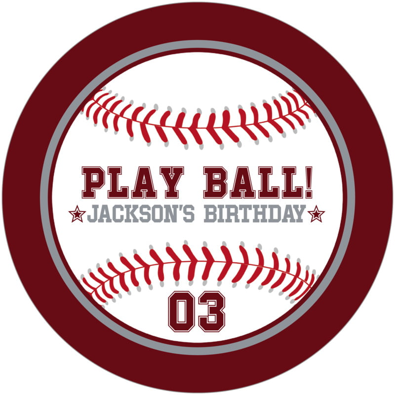 round beer coasters - silver & maroon - baseball (set of 12)