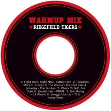 Basketball Cd Label In Black & Red