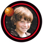Basketball circle photo labels