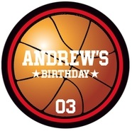 Basketball large circle labels