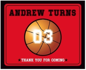 Basketball large wide labels