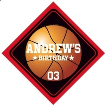 Basketball diamond labels