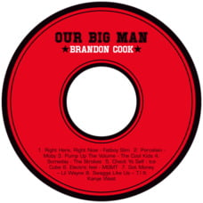Basketball Cd Label In Red & Black
